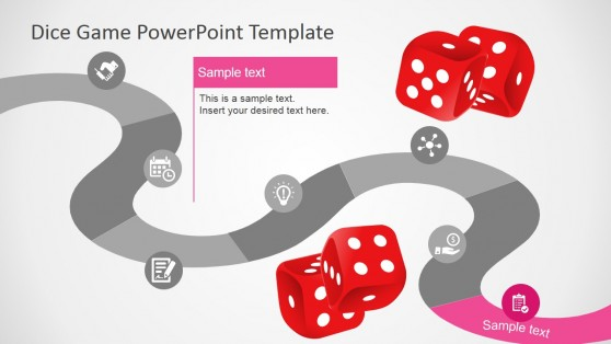PowerPoint Timeline Design Inspired in Board Game Layout