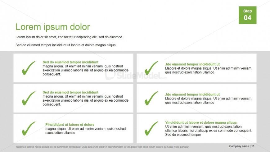 PowerPoint Presentation Template Checklist Layout