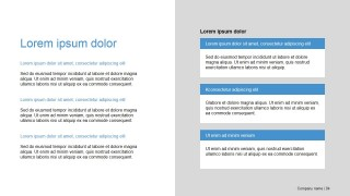 Presentation Template PowerPoint Slide Design Two Column Tiles
