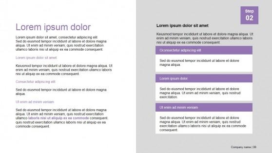 Text Description Section Design of Presentation Template