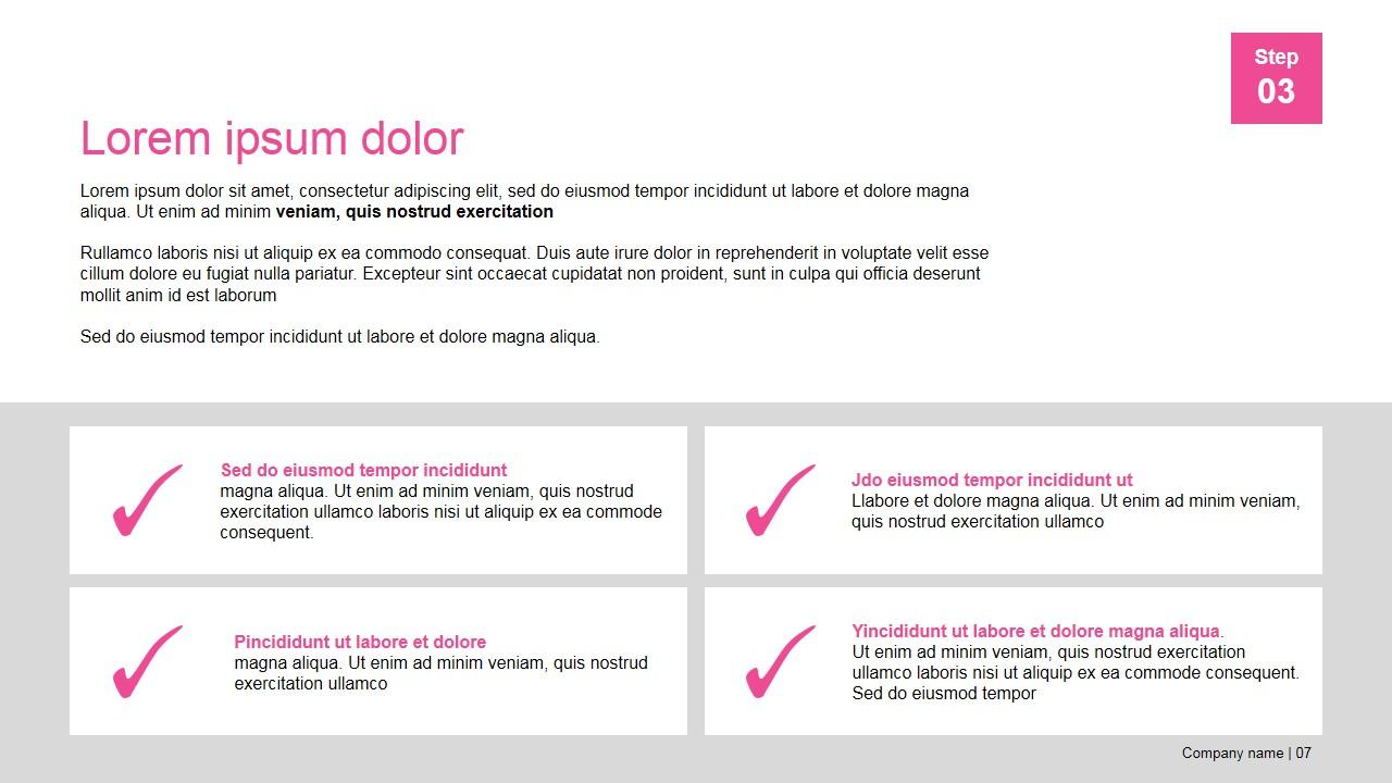 PowerPoint Presentation Template Horizontal Tiles Layout