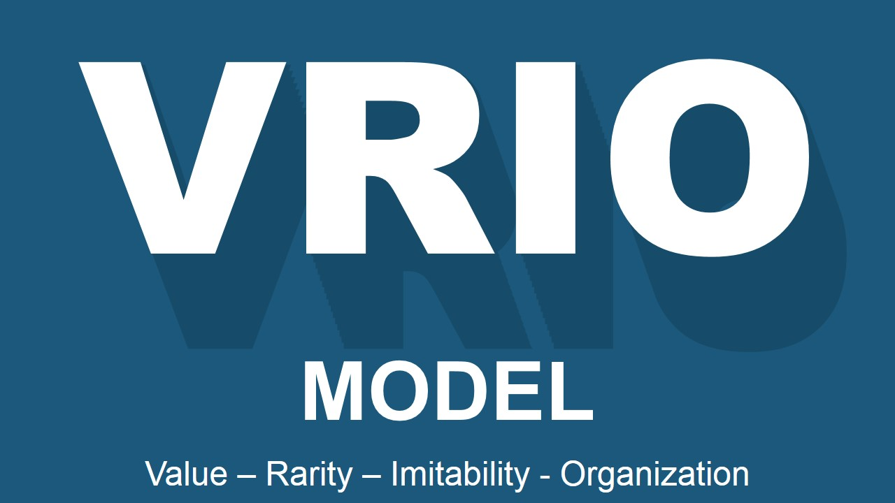 PowerPoint Slide VRIO Capital Letters Longshadow