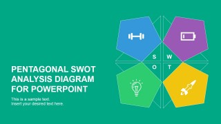 PowerPoint Slide Cover Flat SWOT Analysis