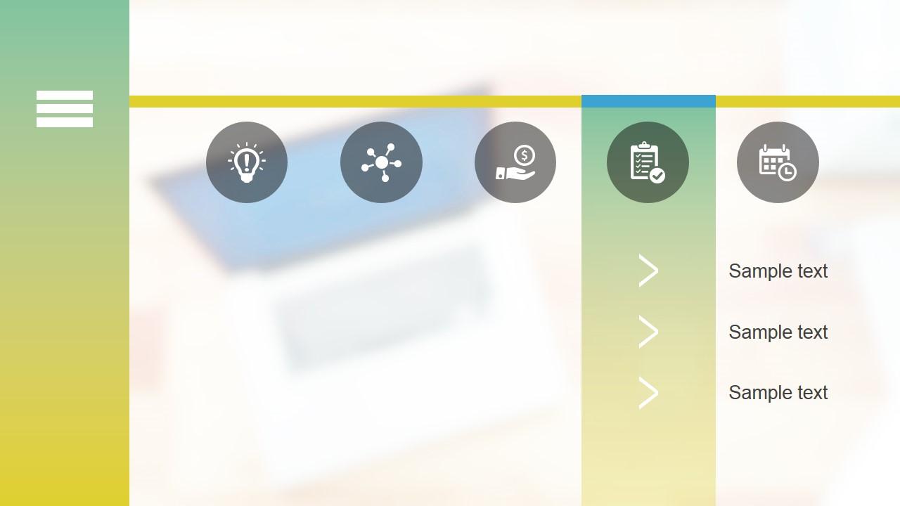 professional blur powerpoint template slidemodel