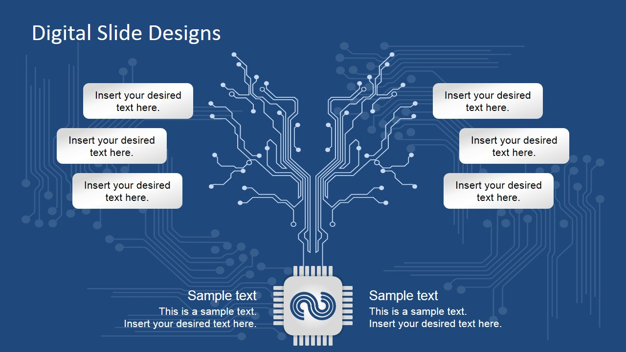 digital slide design for powerpoint slidemodelElectronic Circuit Design Ppt #4