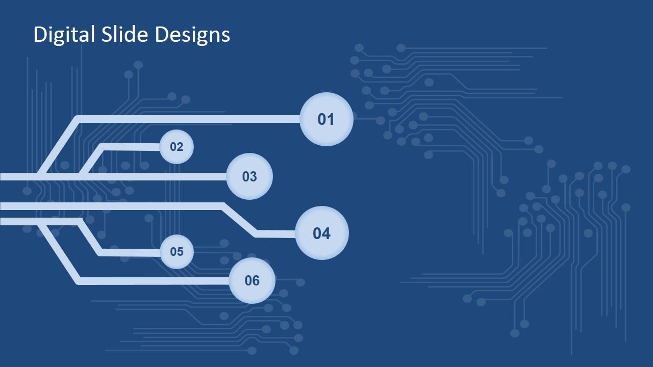 digital slide design for powerpoint slidemodel