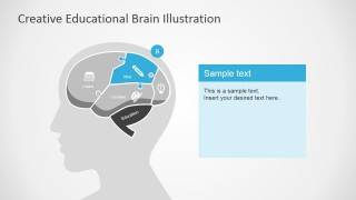 Idea Section Illustration Slide in Human Brain