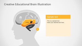 Creative Brain Section Slide in PowerPoint
