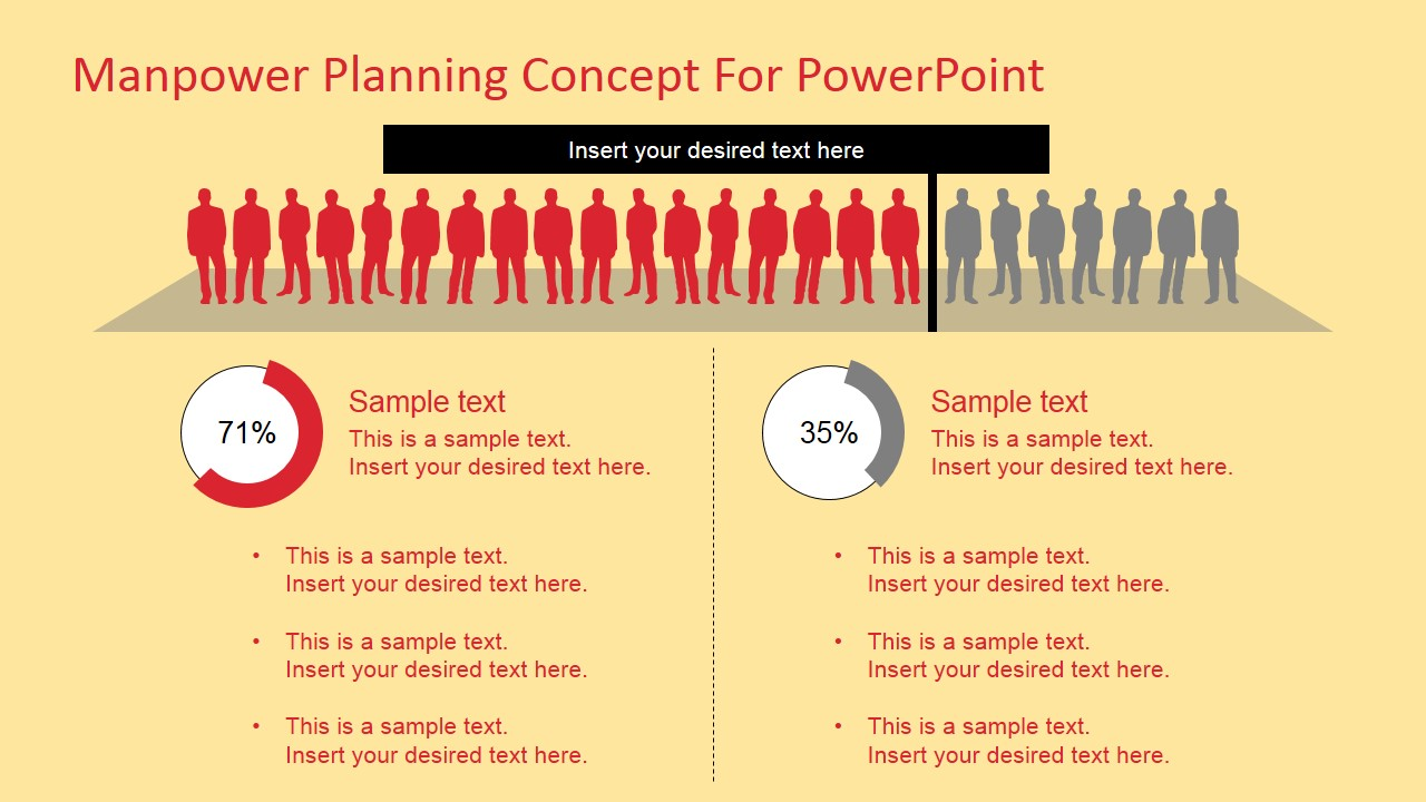 Manpower planning concept for powerpoint slidemodel for Manpower forecasting template