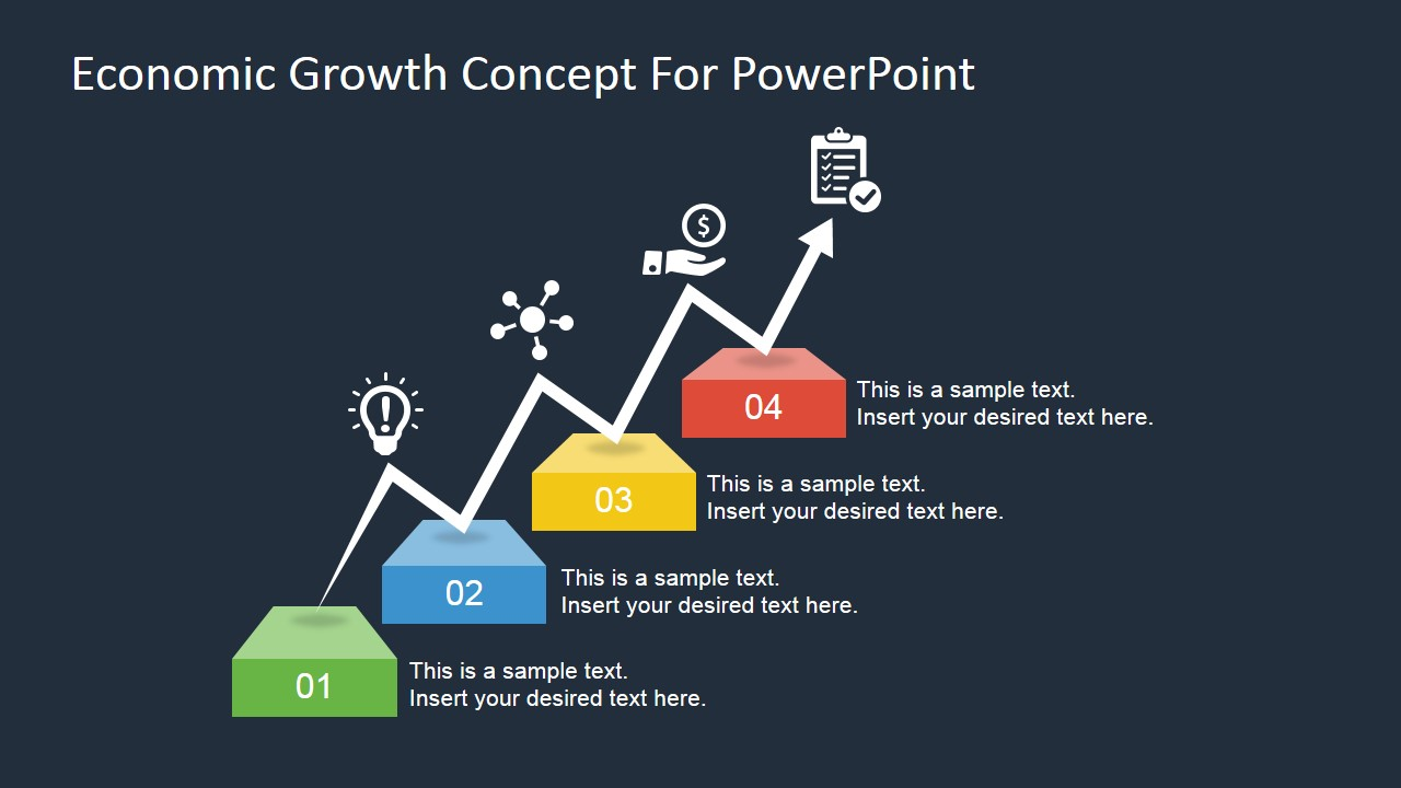 economic growth concept for powerpoint