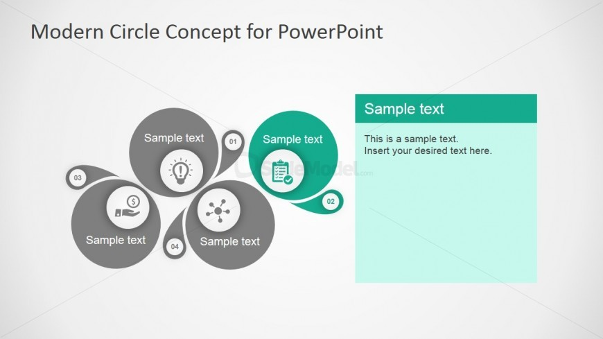 PowerPoint Modern Circle Concept Design