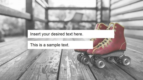 Roller Skates Background PowerPoint