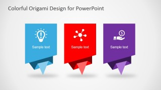 3 Colorful Origami Shapes for PowerPoint