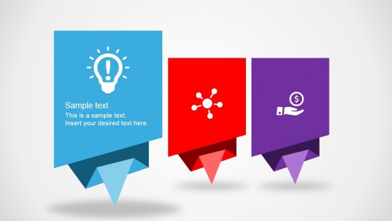 Flat Origami Designs for PowerPoint