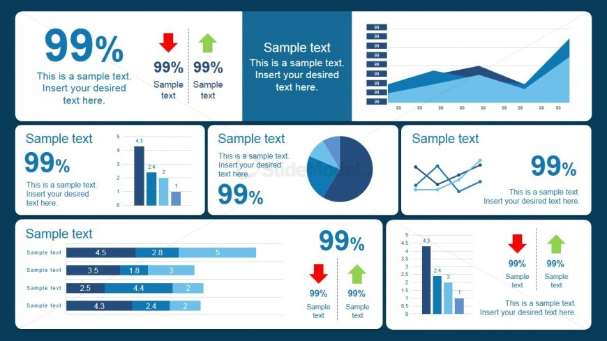 Blue Scorecard Dashboard Design
