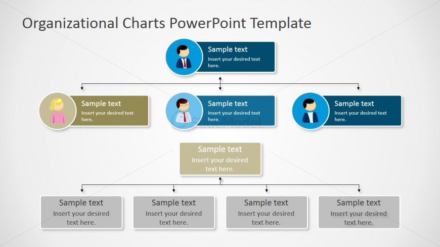 Two Parallel PPT Organizational Charts