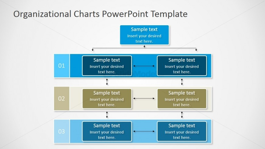 Sample Chart Templates org chart in ppt template : PPT Matrixed Org Chart Diagram