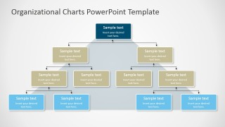 PPT Organizational Chart with Pyramid Background