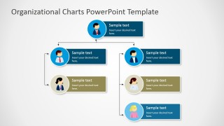 PPT Organizational Chart with Avatars