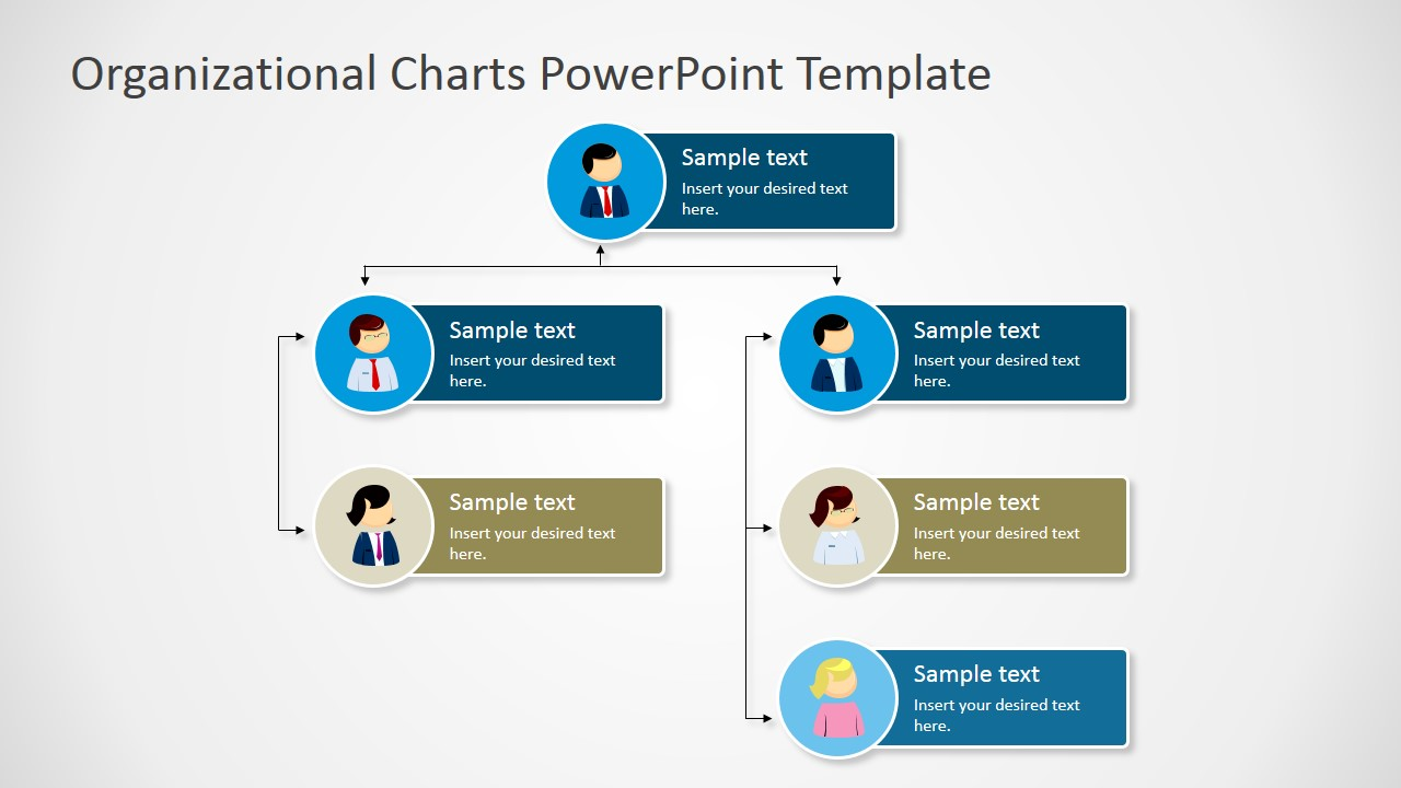 Exceptional ... PPT Organizational Chart With Avatars; PowerPoint Template ...