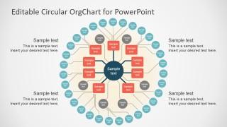 PowerPoint Template Circular Org Chart