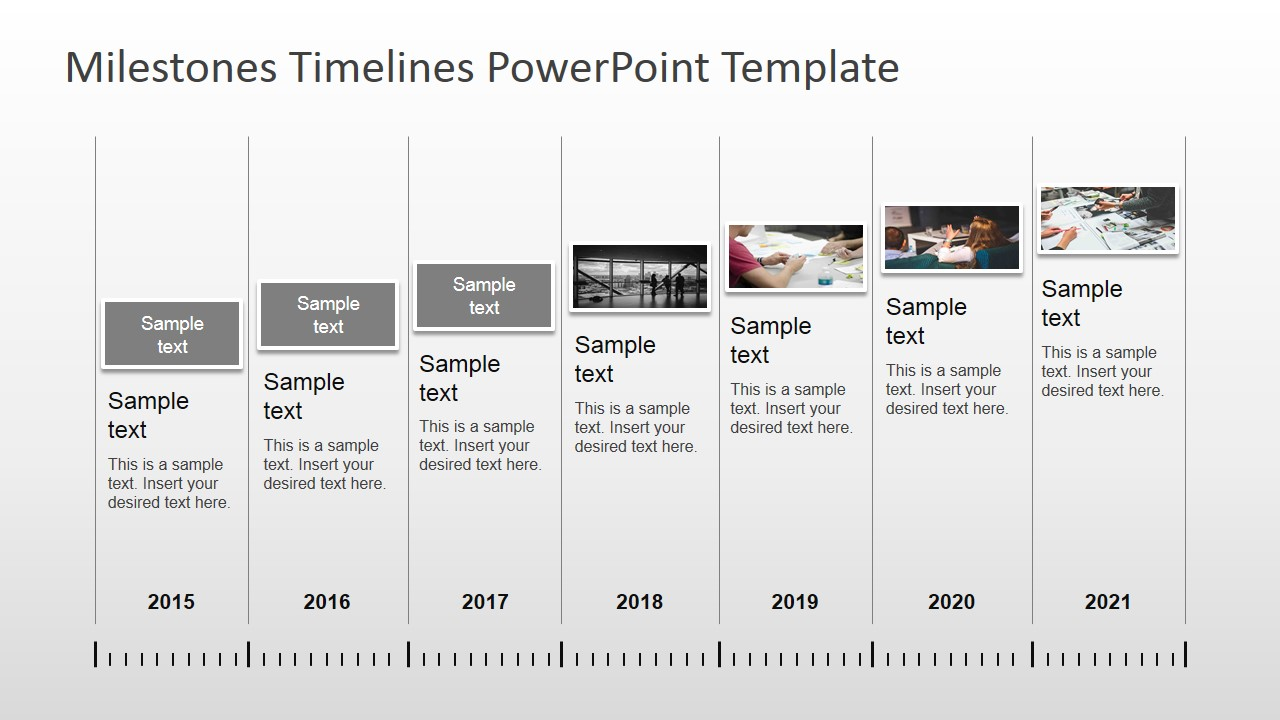 timeline with pictures template