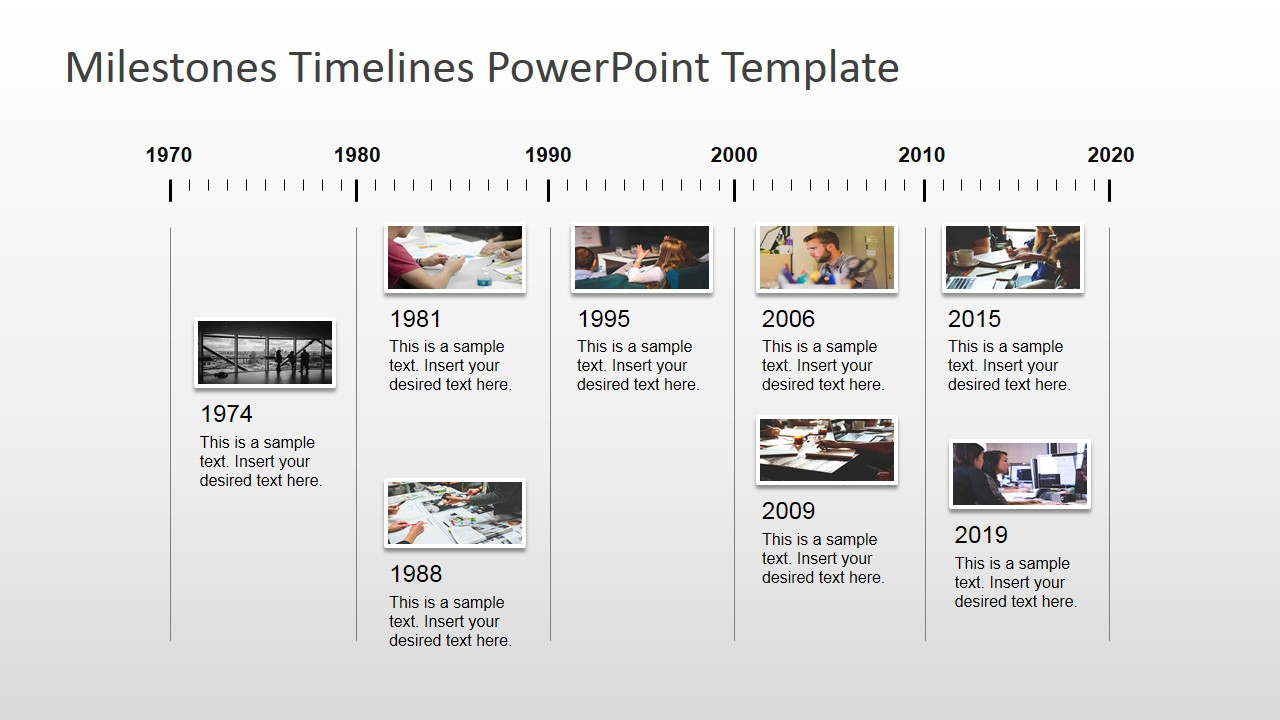 Powerpoint timeline milestone template image collections for Ms powerpoint timeline template