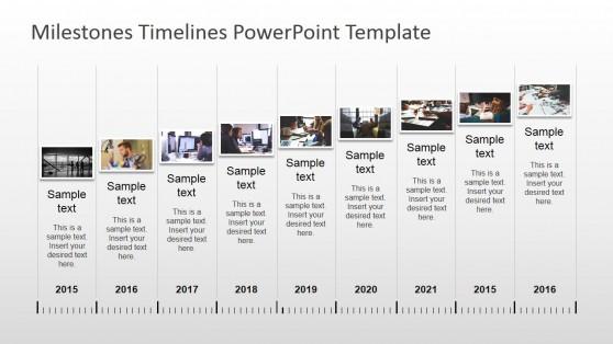 milestones timeline powerpoint template