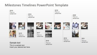 PowerPoint Timeline with Picture Milestones