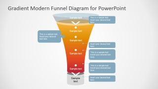 PowerPoint Funnel Diagram Gradient Fill