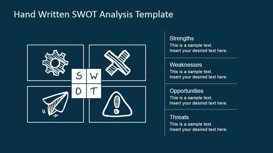SWOT Design Matrix Sketched For PowerPoint
