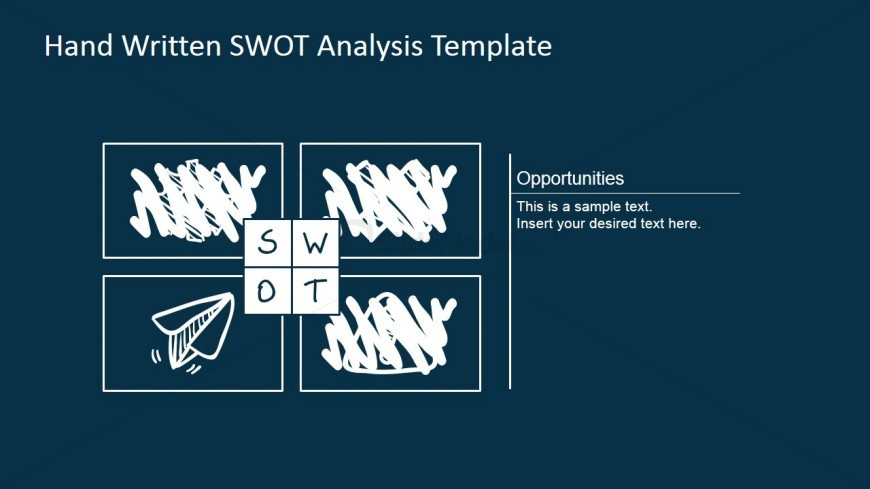 Professional Sketched SWOT Analysis Design Template