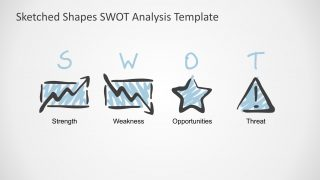 Sketched Shapes SWOT Analysis Template
