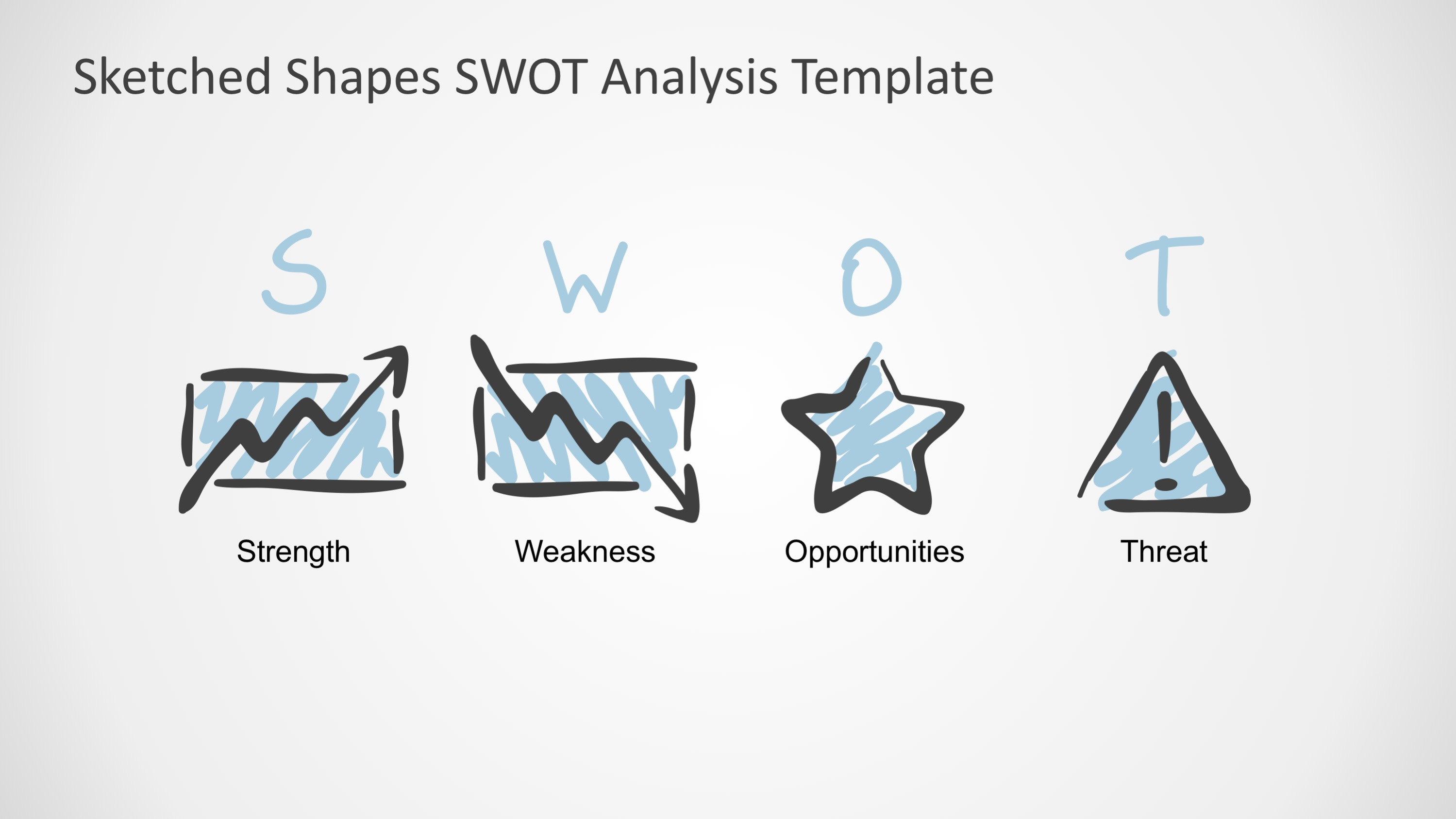 PPT SWOT Analysis Template Crated with Sketch
