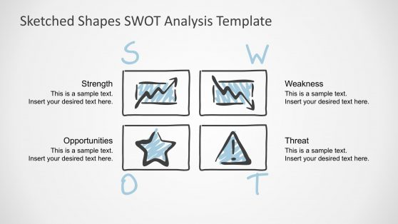 Sketched TOWS Analysis PowerPoint Template