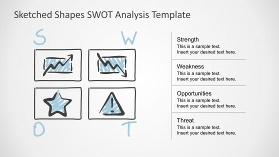 SWOT Analysis PPT Template Sketch