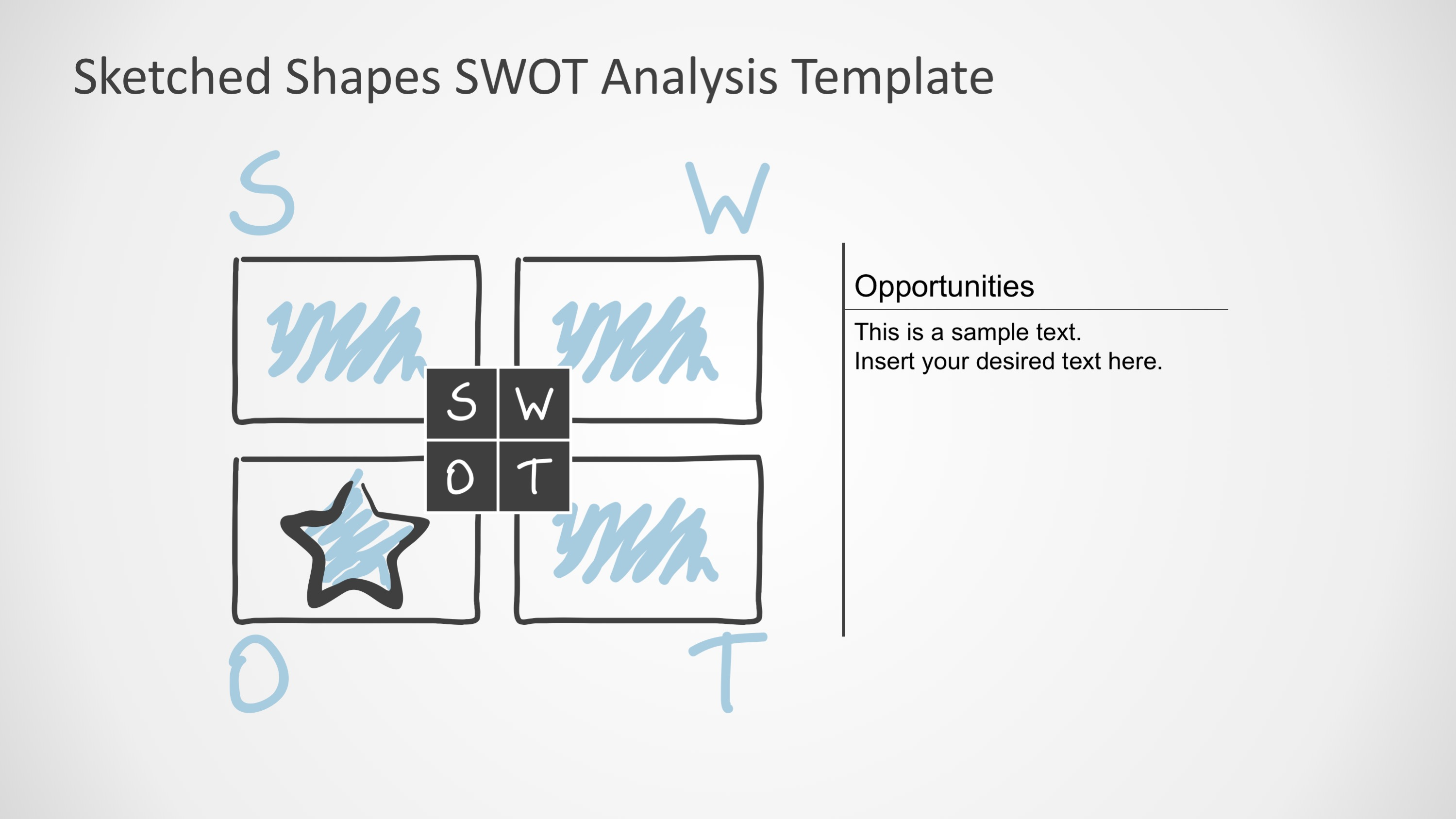 PPT SWOT Analysis Template for PowerPoint