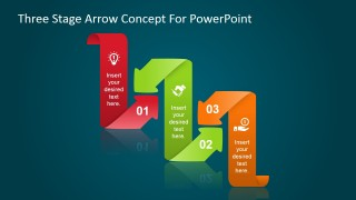 PowerPoint Curved Arrows Created with Shapes