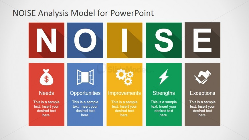 PowerPoint Template NOISE Analysis