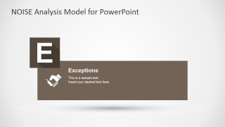 PowerPoint Slide for Exceptions Factors NOISE Model