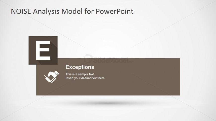 PowerPoint Slide for Exceptions Factors NOISE Model