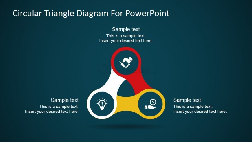 PPT Template Three Steps Diagram