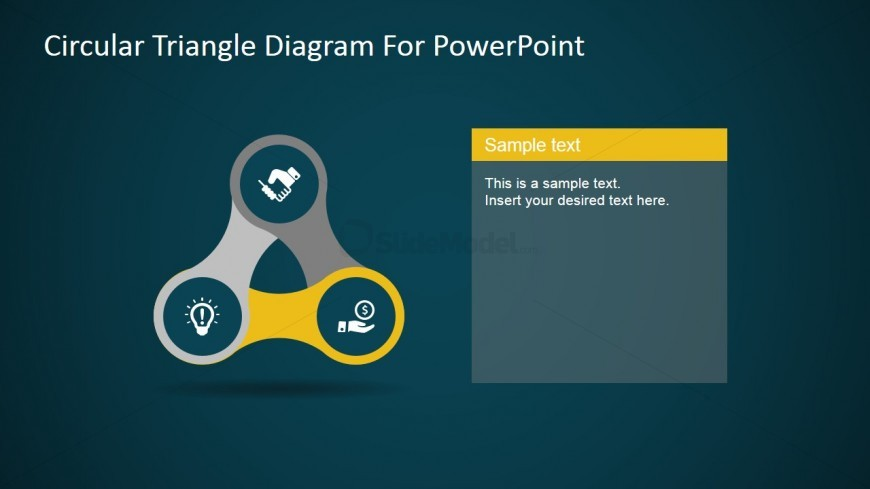 PPT Template Icons Vertex Triangle Diagram