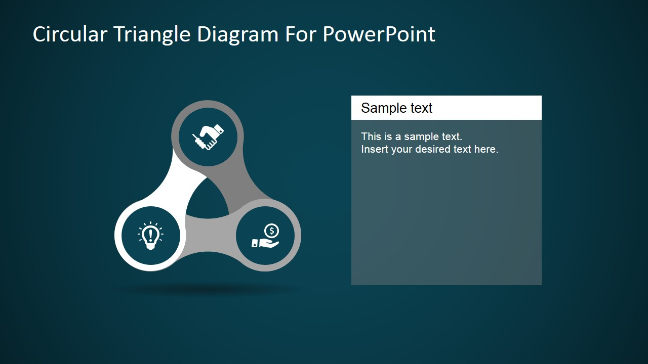 PPT Templates Three Step Triangular Diagram