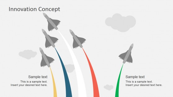 Innovation Metaphor Jet Breaking Formation for PowerPoint