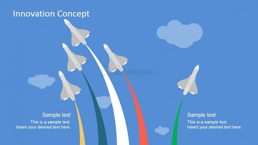 Open Innovation PPT Based on Jet Shapes for PowerPoint