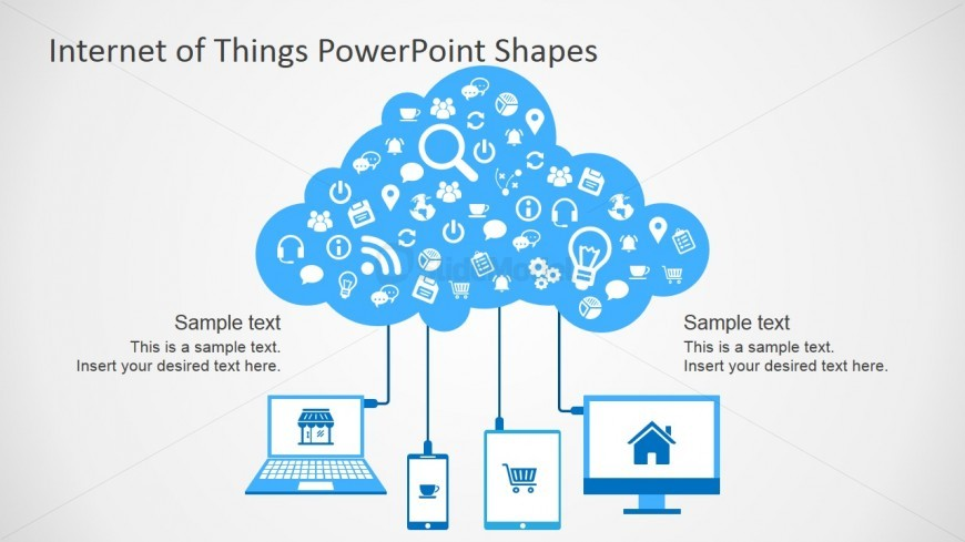 Clipart Shapes Featuring Internet of Things for PowerPoint