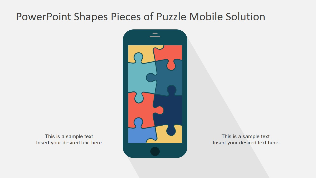 Powerpoint shapes pieces of puzzle mobile solution slidemodel powerpoint template jigsaw puzzle mobile app toneelgroepblik Gallery