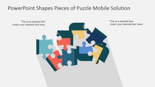 PPT Template Mobile Phone Jigsaw Pieces