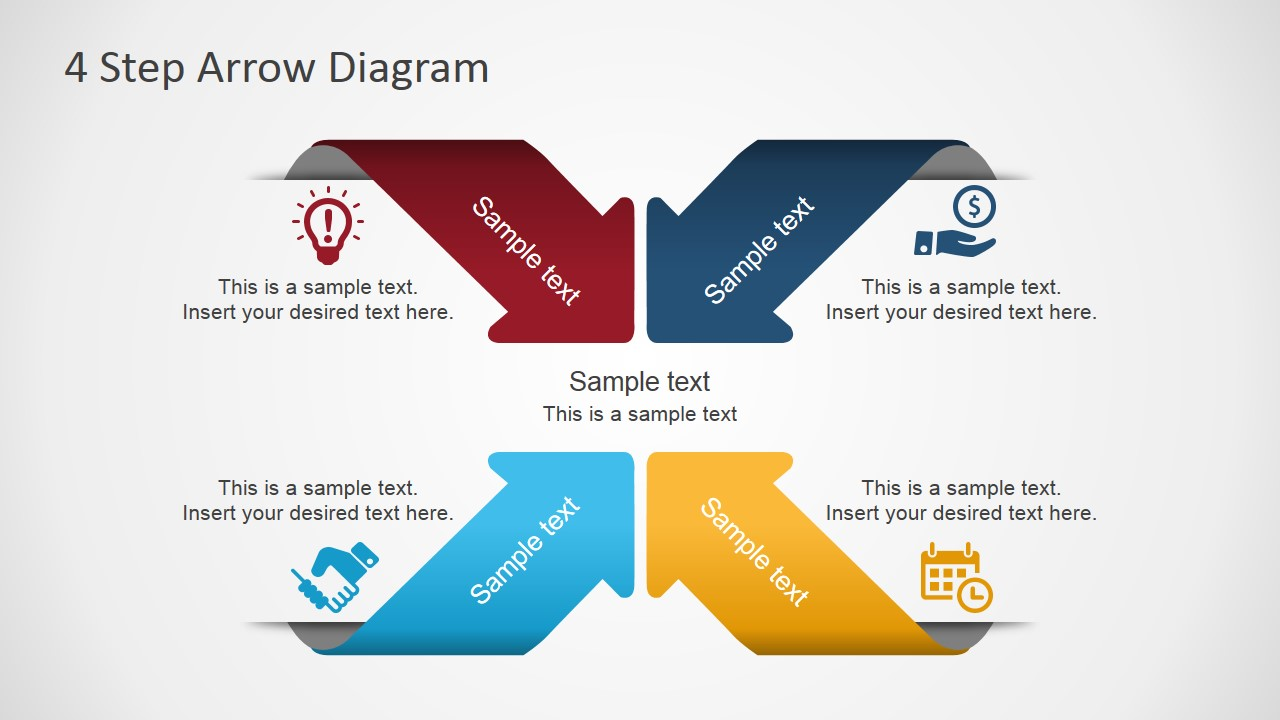 4 Step    Arrows       Diagram    for PowerPoint  SlideModel